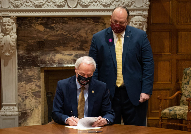 Gov. Hutchinson signs law to complete the A-State system's takeover Henderson State